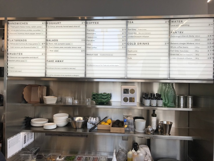 Arket main menu board